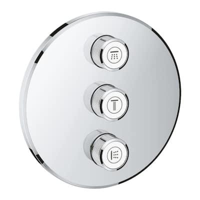 3-Diverter Round Smart Control