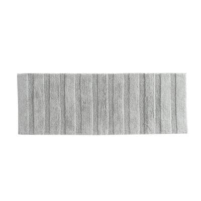 Manchester Solid Light Gray Cotton 22X60 Rug