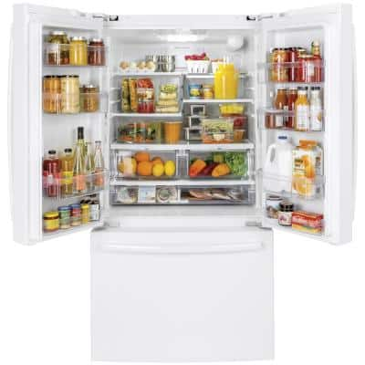 27 cu. ft. French Door Refrigerator in White, ENERGY STAR