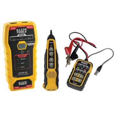 Pro Tone and Probe Kit and LAN Explorer Data Cable Tester with Remote