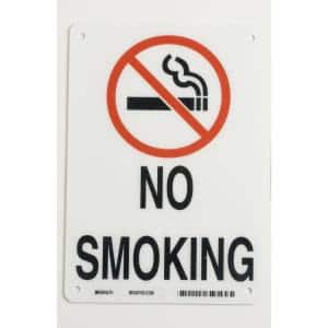 10 in. x 7 in. Plastic No Smoking Sign