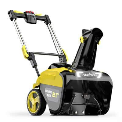 21 in. 80-Volt Single-Stage Cordless Electric Snow Blower with 6.0 Ah Battery and Charger Included