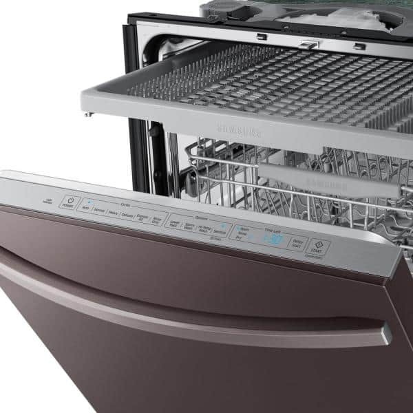 Samsung 24 In Fingerprint Resistant Tuscan Stainless Steel Top Control Built In Tall Tub Dishwasher With Autorelease Dry Dw80r5061ut The Home Depot