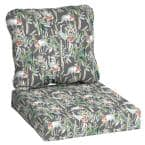 24 in. x 22 in. 2-Piece Gray Crane Deep Seating Outdoor Lounge Chair Cushion
