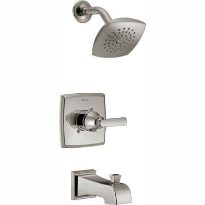 Ashlyn 1-Handle Pressure Balance Tub and Shower Faucet Trim Kit in Stainless (Valve Not Included)