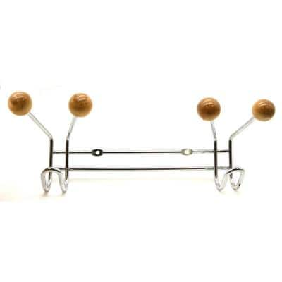 6-Hook Wall Mounted Coat and Hat Rail