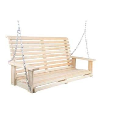 Capers Solid Pine Chain Swing