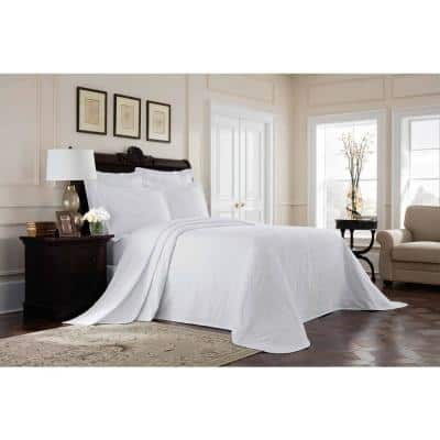 Williamsburg Richmond White Solid Twin Coverlet