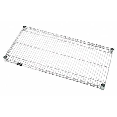One Industrial 18 in. W x 36 in. L Chrome Wire Shelf
