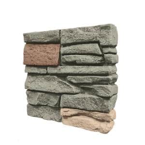 Stacked Stone Stratford 12 in. x 12 in. Faux Stone Siding Sample