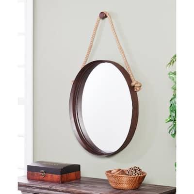 Medium Oval Rich Rust Finish Contemporary Mirror (38.5 in. H x 20.5 in. W)
