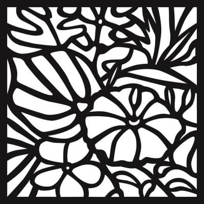 0.3 in. x 22.8 in. x 1.9 ft. Hibiscus Wall Art & Fence Panel