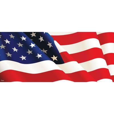 7 ft. x 16 ft. American Flag - Patriotic Garage Door Decor Mural for Double Car Garage