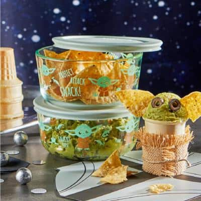 Star Wars The Child 4-Piece Decorated Glass Storage Container Set with Lids