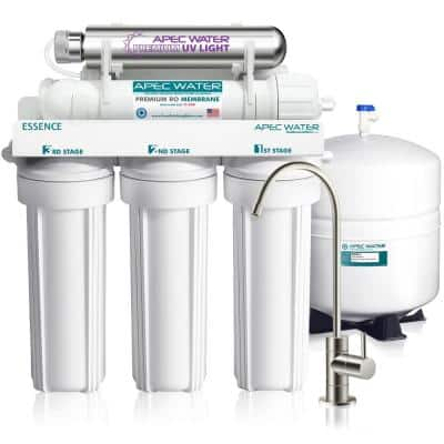 Essence Series UV Sterilizer 75 GPD 6-Stage Under-Sink Reverse Osmosis Drinking Water Filter System (Stainless Steel)