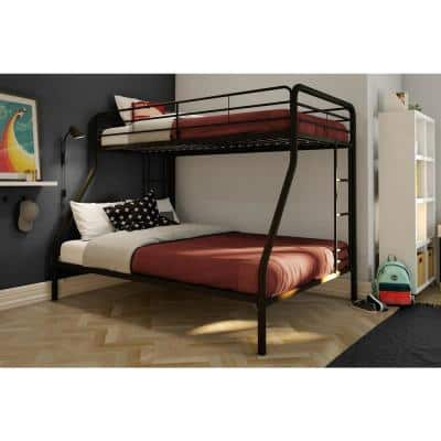 Cindy Black Twin over Full Metal Bunk Bed