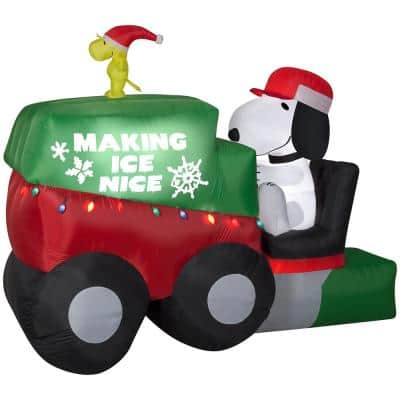 9.5 ft. W Animated Airblown Snoopy on Ice Machine-Giant