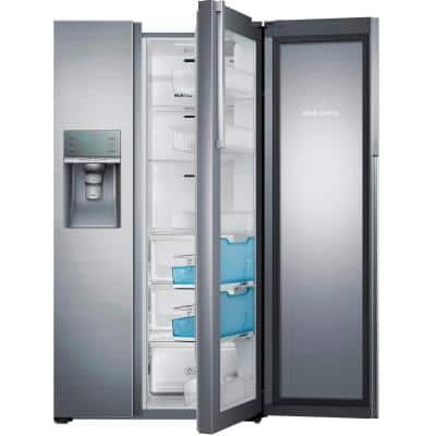 21.5 cu. ft. Side by Side Refrigerator in Stainless Steel, Counter Depth Food Showcase Design