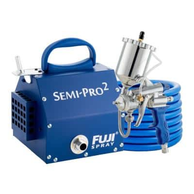 Semi-PRO 2 M-Model HVLP Paint Sprayer Gun with 400cc Gravity Feed Cup and 1.3 mm Air Cap Set HVLP Paint Sprayer System