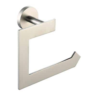 Imperium Single Post Toilet Paper Holder without Cover in Brushed Nickel