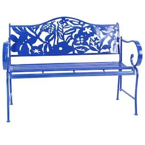 38 in. H x 48 in. D x 21 in. W Blue Bench