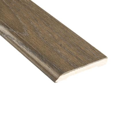 Fumed Umber Acacia 1/2 in. Thick x 3-1/2 in. Wide x 94 in. Length Wall Base Molding