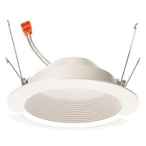 10-Watt 5 in. 700 Lumens 3500K 90CRI White Integrated LED Recessed Trim