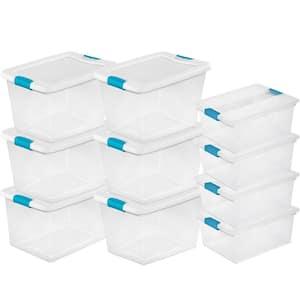 64-Qt. Latching Storage Tote Box (6 Pack) + Deep Clip Box (4 Pack)