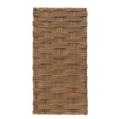 6 ft. x 3 ft. Brown Willow Braided Fence Panel