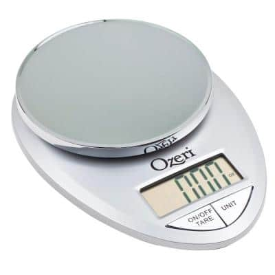 Pro Digital Kitchen Food Scale, 1 g to 12 lbs. Capacity, in Elegant Chrome