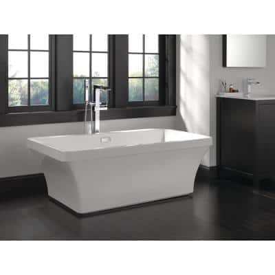 Everly 60 in. Acrylic Flatbottom Bathtub with Integrated Waste and Overflow in White