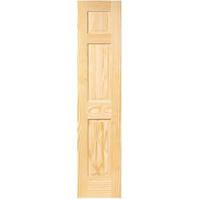 18 in. x 96 in. 6-Panel Pine Unfinished Solid Core Interior Door Slab