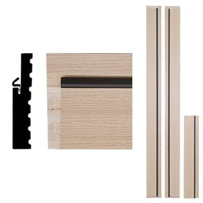 1-1/4 in. x 6-9/16 in. x 83 in. Primed Woodgrain Composite Door Frame Kit