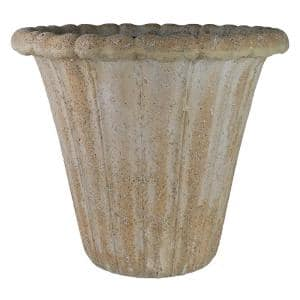 22 in. Natural Lava Stone Flower Pot Planter