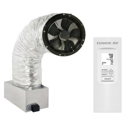 4.0(R2) Whole House Fan 3921 CFM (HVI-916 Certified Airflow Rating) 2-Speed Remote with Timer/Temp Control R50 Damper