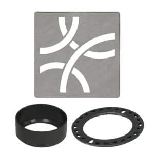 Kerdi-Drain 4 in. Stone Grey Curve Drain Grate