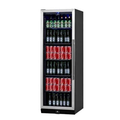 Single Zone 23.5 in. 450 (12 oz.) Stainless Steel Beverage Can Cooler