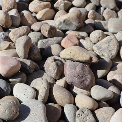 0.90 cu. ft., 75 lb., 1/2 in. to 1 in. Buff Mexican Beach Pebble (40-Bag Contractor Pallet)