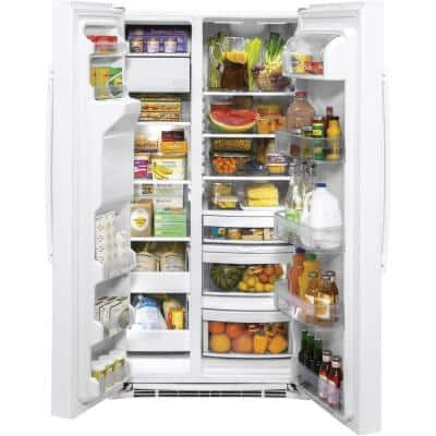 25.1 cu. ft. Side by Side Refrigerator in White