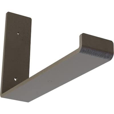 2 in. x 6 1/2 in. x 10 in. Hammered Dark Bronze Steel Hanging Shelf Bracket