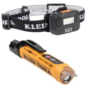 Rechargeable Headlamp and Non-Contact Voltage Tester Tool Kit (2-Piece)