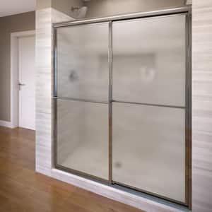 Deluxe 56 in. x 64 in. Framed Sliding Shower Door in Chrome
