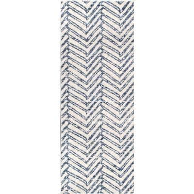Home Decorators Collection Rosanne Geometric Herringbone Blue 7 Ft X 9 Ft Area Rug Rzbd94a 6709 The Home Depot