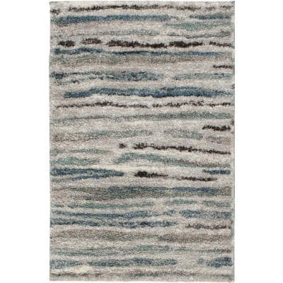Shoreline Grey/Multi 2 ft. x 3 ft. Striped Accent Rug