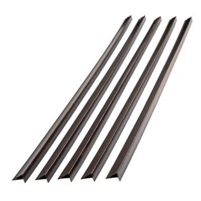 47 in. Vinyl Large Profile Outside Corner Trim in Smoked Pewter (5-Pack)