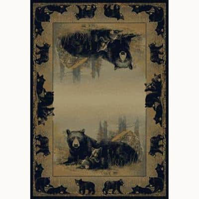 Time To Play 5 ft. x 8 ft. Contemporary Lodge Area Rug