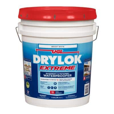 Extreme 5 gal. Bright White Flat Latex Interior/Exterior Basement and Masonry Waterproofer
