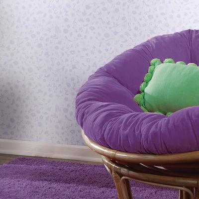 Disney Princess Icons Purple Peel and Stick Wallpaper (Covers 28.18 sq. ft.)