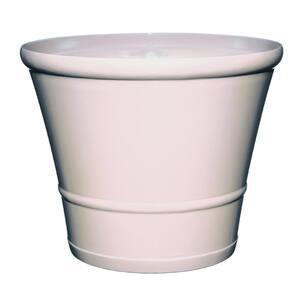 22 in. Lattice White Resin Flair Planter