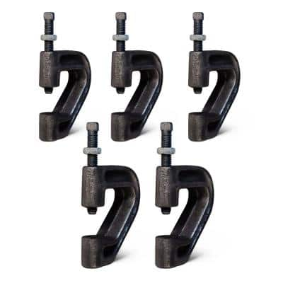 Purlin Beam Clamp for 3/8 in. Threaded Rod in Uncoated Iron (5-Pack)